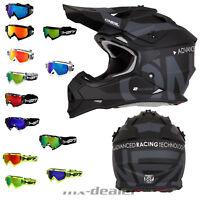 2019 O'Neal 2series Slick schwarz Helm Crosshelm MX Motocross + HP7 Crossbrille