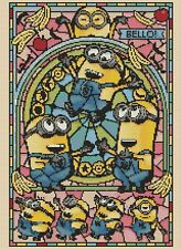 Minions Stained Glass Counted Cross Stitch COMPLETE KIT #10-169