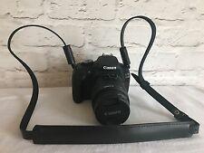 Cuir Véritable DSLR appareil photo Lanière de transport noir bandoulière cuir