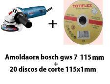 Amoladora bosch gws 7 115mm +discos de regalo***radial bosch