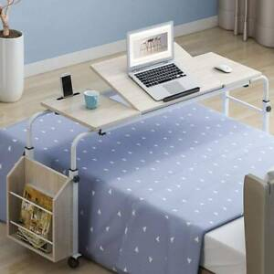 Adjustable Mobile Over Sofa Bed Table Computer Laptop Desk Stand with 4 Wheels