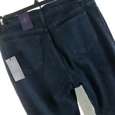 NYDJ Women Jeans Size 18 Petite Straight Lift Tuck Tech Dark Wash New