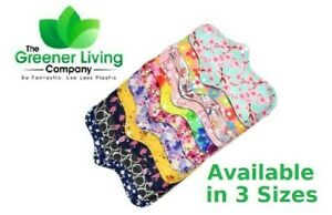 Reusable Washable Bamboo Cloth Eco Sanitary Towels Menstrual Period Pads 3 SIZES