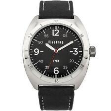 Firetrap Men's Quartz Black Strap Watch with Black Dial FT2000B SECOND
