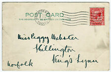 One Penny postage REVENUE Brighton Sussex Inghilterra UK GB 1928 Post Card (b2556