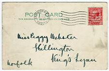 One Penny Postage Revenue Brighton Sussex England UK GB 1928 Post Card  (B2556