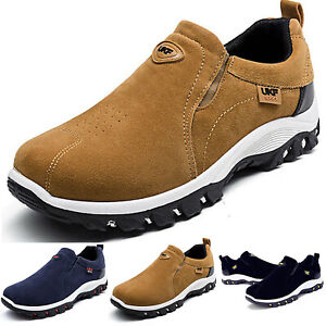 Mens Outdoor Hiking Non Slip Comfy Slip On Shoes Casual Sport Trainer Sneaker UK