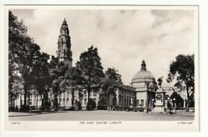 A Tuck's Real Photograph Post Card of The Civic Centre, Cardiff.