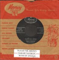 Vaughan, Sarah - Please Mr. Brown/Band Of Angels  Vinyl 45 rpm record