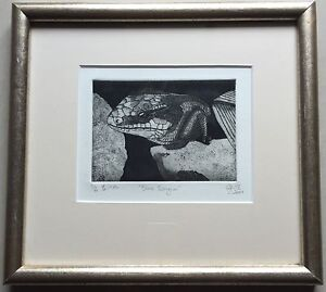 Dennis White~Collectable original etching(1/6)~Blue Tongue~2001
