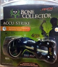 Bone Collector By Apex Gear Accu-Strike 4 Pin Sight with Micro Push-Button LED