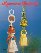Macrame Towel Holder, Plant Hanger & Owl Patterns Macrame Festival Book Mm341