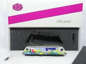 """HAG H0 (AC) NR. 098 Elektrolok RE 4/4 BT """"50 JAHRE HAG"""" Voralpen Express in OVP"""