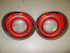 Vintage GM Round Tail Brake Stop Back-Up Lights, Pair of 2 GM 19 SAE AR 71
