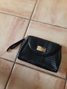 Versace Parfums Black Tote Bag With Wristlet strap