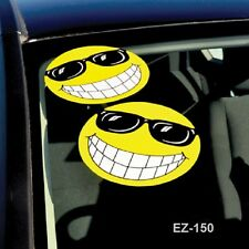 Car Dealer Window Stickers, Smiley Face w/ Sun Glasses (6 packs)