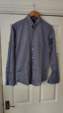 Hugo Boss Slim Fit Grey Blue Pattem Shirt Size S *GC*
