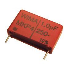 2 WIMA Polypropylen Folienkondensator Kondensator MKP4 250V 1uF 22,5mm 089695