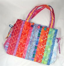 New Tote Purse Handbag Pattern Uses Pre Quilted Fabric with Border 3  Projects