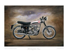 Motorcycle Limited Edition Print - BSA Gold Star - Classic British Bike Painting