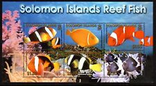 2001 SOLOMON ISLANDS REEF FISH minisheet SG1002 mint unhinged