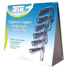 TRIM Nail Clipper 2 Cards of 12 Clippers With Keychain Rings Total 24 Clipers