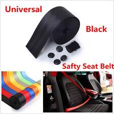 Universal Car Racing Front 3Point Safety Retractable Van Car Seat Lap Belt Black