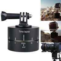 360°Rotating Panning Time Lapse Stabilizer Tripod Adapter for Gopro DSLR Camera!