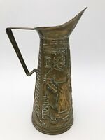 """LARGE 13"""" VINTAGE BRASS EWER JUG COLLECTABLE FIREPLACE :T112"""