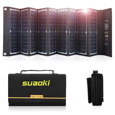 Suaoki Foldable 60W Solar Panel Charger for Portable Power Station Generator