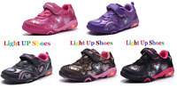 "[;.New Baby Toddler Girls ""Light Up"" LED Shoes Casual Walking Slip On Sneakers"