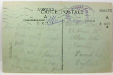 POSTCARD Rouen, Army Post, Passed by Field Censor 1917; WWI; Le Delay