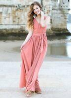 Womens Joyfolie Audrey Dress in Dusty Pink size XL X Large NEW