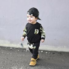 2 Piezas Bebé Adulto Chicos Niños Camiseta Suéter + Pantalones largos Informal
