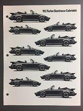 1987 / 1988 Porsche 911 Turbo Slantnose Cab B&W Clip Art Pictures Print Poster
