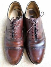 Johnston & Murphy Optima Leather Mahogany Brown Dress Shoes 9.5 D Medium CAP TOE