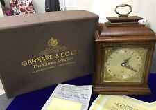 Vintage Garrard & Co Ltd London Elliot Mahogany 8 Day Oak Mantle Carriage Clock