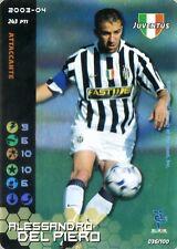 FOOTBALL CHAMPIONS 2003-04 Alessandro Del Piero 036/100 Juventus ITA WIZARD