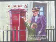 Guernsey-Union street pillar Box-Postboxes mnh