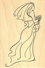 Bride To Be Wedding Wood Mounted Rubber Stamp JUDIKINS - NEW, 2853H