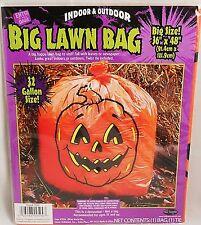"HALLOWEEN BIG PUMPKIN  LAWN BAG  36"" x 48""  32 Gallons  [4 bags]"