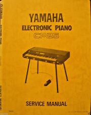 Yamaha CP25 Electronic Piano Original Service Manual, Schematics, Parts List