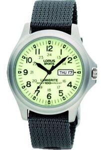 Lorus Lumibrite Military Watch RJ655AX9 NEW