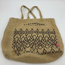 faabecd2c Earthbound Trading Company Tote Large Burlap Market Bag