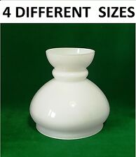 C Smethurst Lamp Shade Oil 4 Sizes White Glass (replacement light retro chinmey)