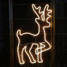 Rentier 83 cm LED beleuchtet außen aus Neon-Lichtschlauch warmweiß Weihnachten