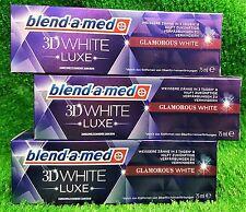 (3,98€/100g) 3x Blend-a-med 3D WHITE BRILLIANCE GLAMOROUS MINT ZAHNCREME