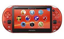 Sony Playstation PS Vita Wi-fi Console Sistema 2000 Metalic Rosso Pch-2000za26