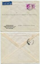 HONG KONG to FRENCH INDOCHINA NETHERLANDS TRADING SOCIETY ENVELOPE 50c +10c 1947