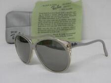 Vintage B&L Ray Ban Christie L9811 Crystal Clear Grey Mirror Sunglasses USA